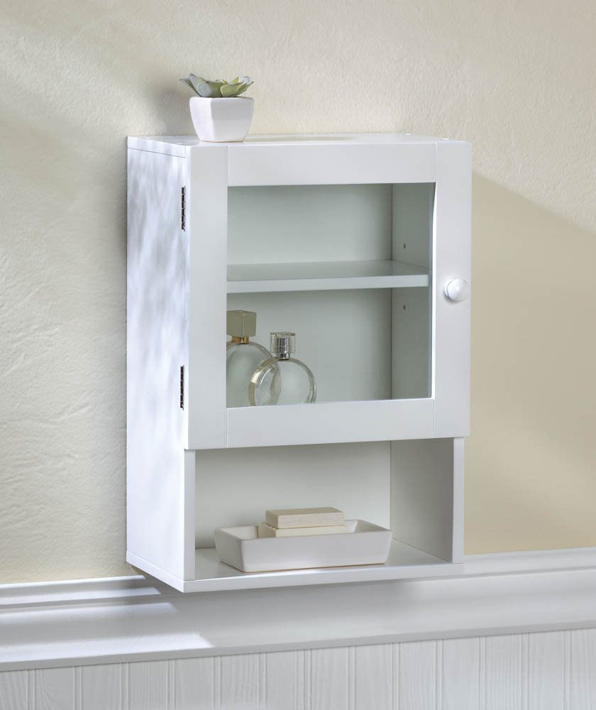 Amazon.com: Space+ White Wall Mount Medicine Cabinet Bathroom ...