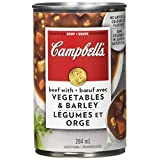 Campbell's Beef with Vegetables and Barley Soup, 284ml, 12 Count