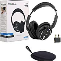 Active Noise Cancelling Headphones with Mic, MonoDeal Over Ear Headset, High-Res Sound, 35-hour Playing Time, Wired Earphones for PC Smartphone Adults Kids – Black