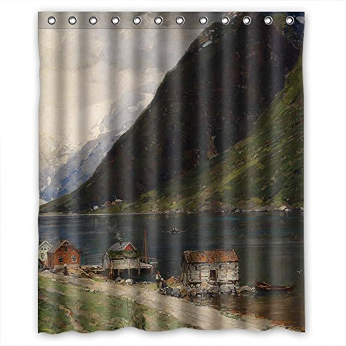 zeezon-christmas-shower-drape-of-beautiful-scenery-landscape-painting-polyester-width-x-height-60-x-