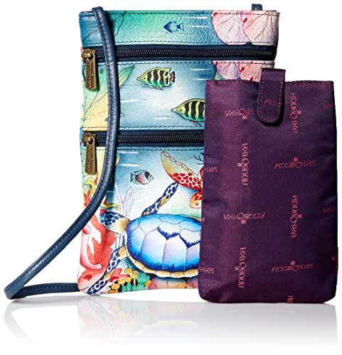 Mini Oct Zip Handbag ocean Body Ffts ANUSCHKA Double Crossbody Cross Women's Treasures zxtOg5