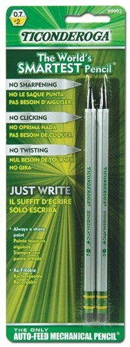 Ticonderoga 99992 .7 Mm Mechanical Pencil 2 Count (Pack of 6) Dixon Ticonderoga Mechanical Pencil