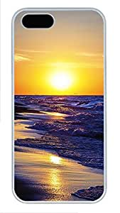taoyix diy iPhone 5 5S Case landscapes nature sunset sea 7 PC Custom iPhone 5 5S Case Cover White