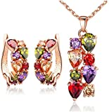 Jewels Galaxy Copper Jewellery Set for Women (Multi-Colour)(SMNJG-CB-MIXX-4001)