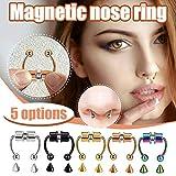 QWV Magnetic Septum Fake Nose Ring Hoop Ring