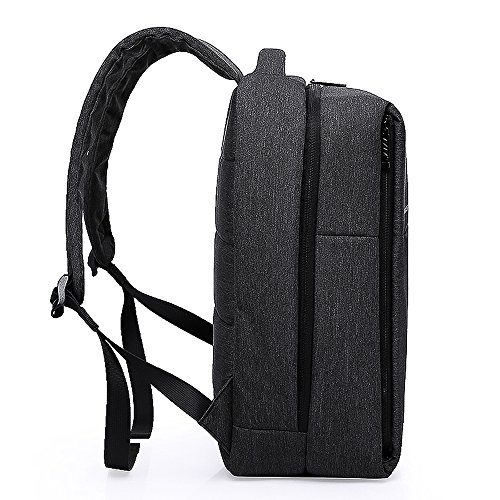Business Tech School Water Backpack Laptop Travel for Style Black Black Bag Slim Unisex Urban Hiking resistant Olanstar 14H6YAqzcW
