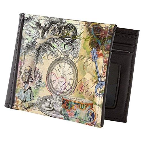 CafePress - Cheshire Cat Alice In Wonderland - Mens Wallet, Bi-fold Wallet, Billfold Money Holder (Alice And The Mad Tea Party Slot)