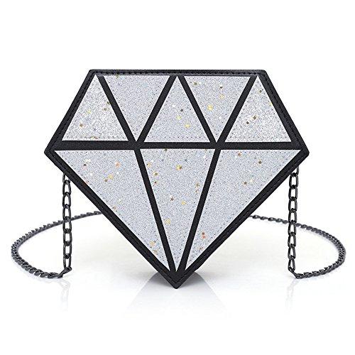 Travée Asymétrique Sac Silvery GWQGZ De Sac Nouveau Argenté Sequin Personnalisé Mode Diamant Unique Laser À Bandoulière En De 4zPpq74w