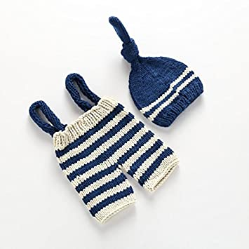 f80181e221f6 ArMordy(TM) Crochet Newborn Props for Photography Baby Hat + Overalls  Knitted Roupas Para