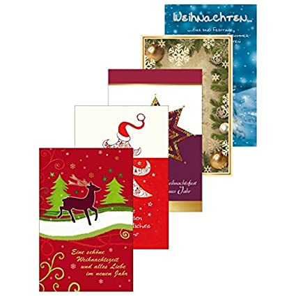susy card 40008752 christmas thank you cards pack of 5 5 motive elk