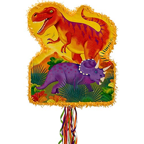 Ya Otta Pinata Pull String Prehistoric Dinosaurs Pinata, Birthday Party, 2lb Filler Capacity, 20 3/4 x 17 3/4 Inches]()
