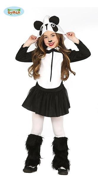 guirca madchen pandakostum panda kostum kleid kinderkostum schwarz weiss gr 98 146 grosse 98 104 amazon de spielzeug