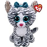 Claire's Girl's Ty Beanie Boo Large Quinn the Cat Soft Toy White