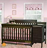 Cherry Changing Table Dresser Combo Hunsa8 Cherry Solid Wooden Multi-Function Baby Crib Combo Dresser Changing Table Pad