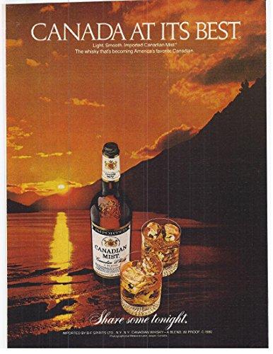 1981 Vintage Scotch Advertisement Canadian Mist Whisky