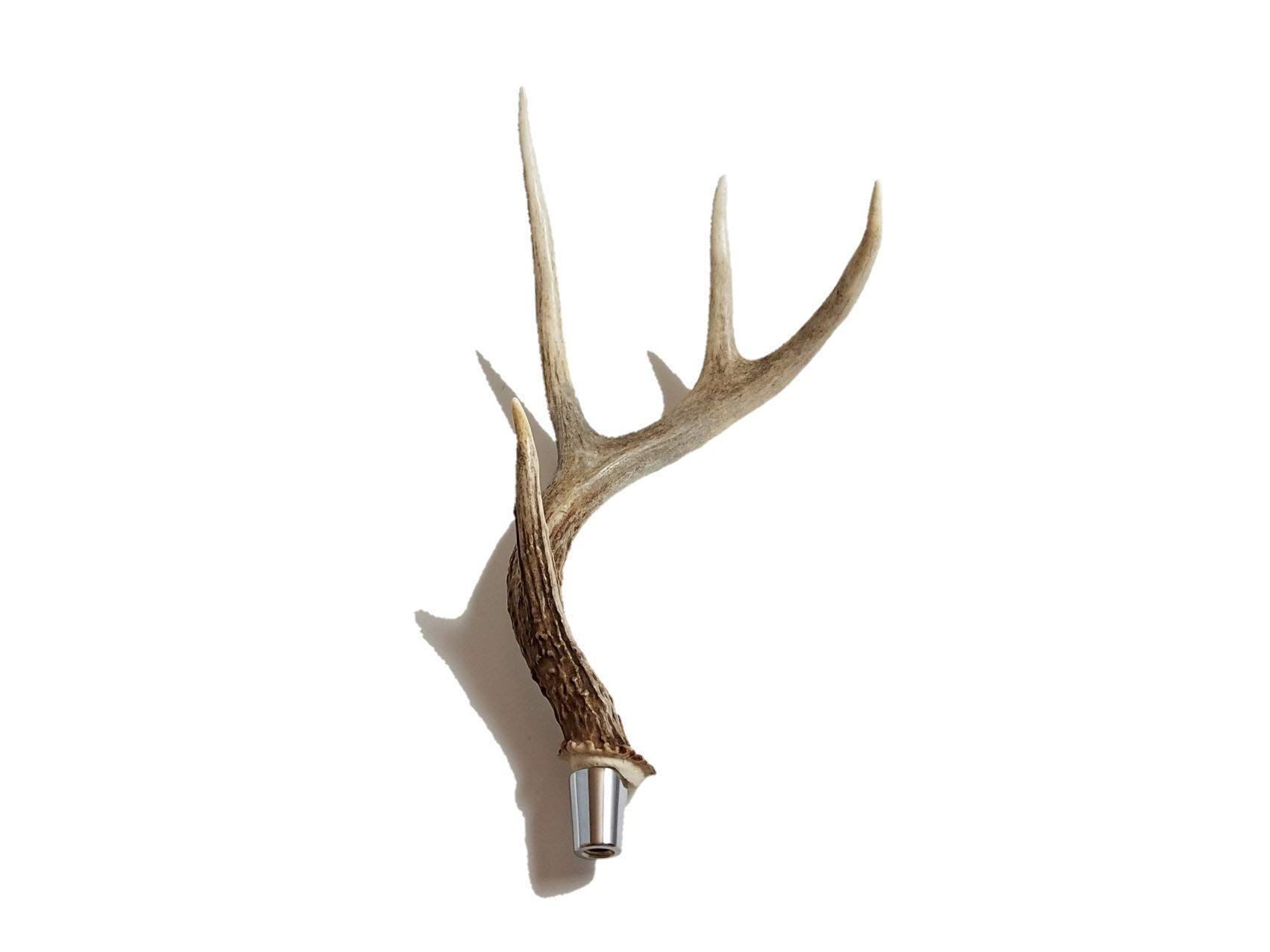 Real Whitetail Deer Antler Beer Tap Handle for Kegerators Keezers Keg Bar Man Cave