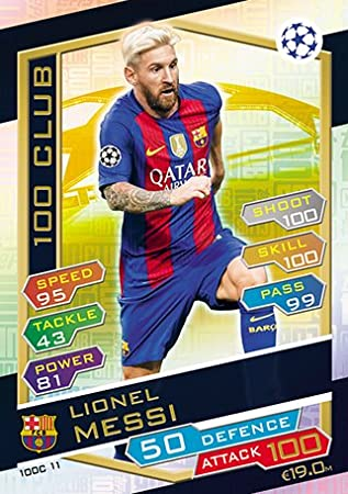 Match Attax Champions League 2016/2017 - Lionel Messi 100 Club Card (100C11)
