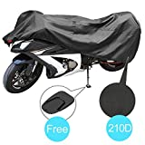 KAKIT Motorcycle Cover, Waterproof All Weather Outdoor Protection Motorcycle Covers, 210D Oxford Durable and Tear Proof, Fits up to 90.2