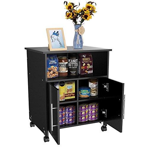 Yaheetech Rolling Home Office Printer Stand Storage Cart Cupboard Shelf Rolling Shelf Desk ()