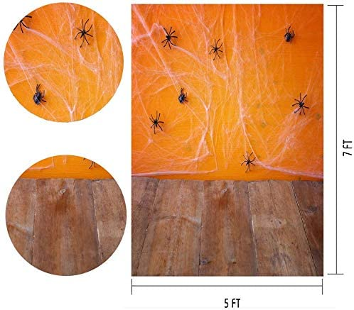 8x6ft Halloween Carnival Spider Cartoon Foldable and Waterproof Photo Studio Photography Props Birthday Party Wallpaper Studio Wedding Cloth Family Portrait Background Cloth