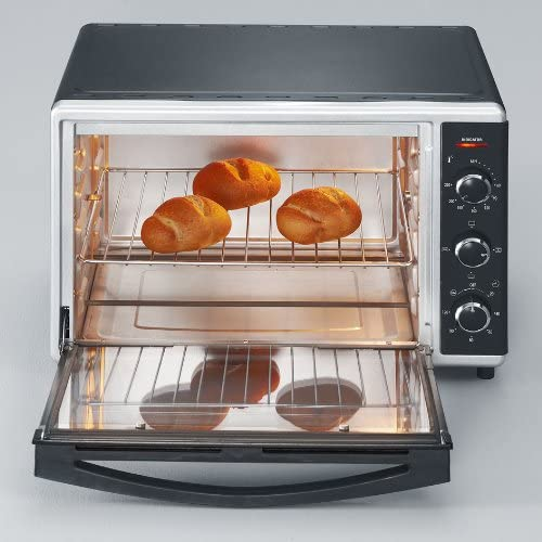Severin 2058 Toast Oven with Convection, 42 Litre, 1800 W, Black/Silver, Steel