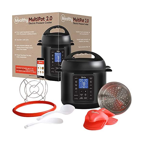 Mealthy MultiPot 9-in-1 Programmable Pressure Cooker with Stainless Steel Pot, Steamer Basket, Full Accessory Kit… 6