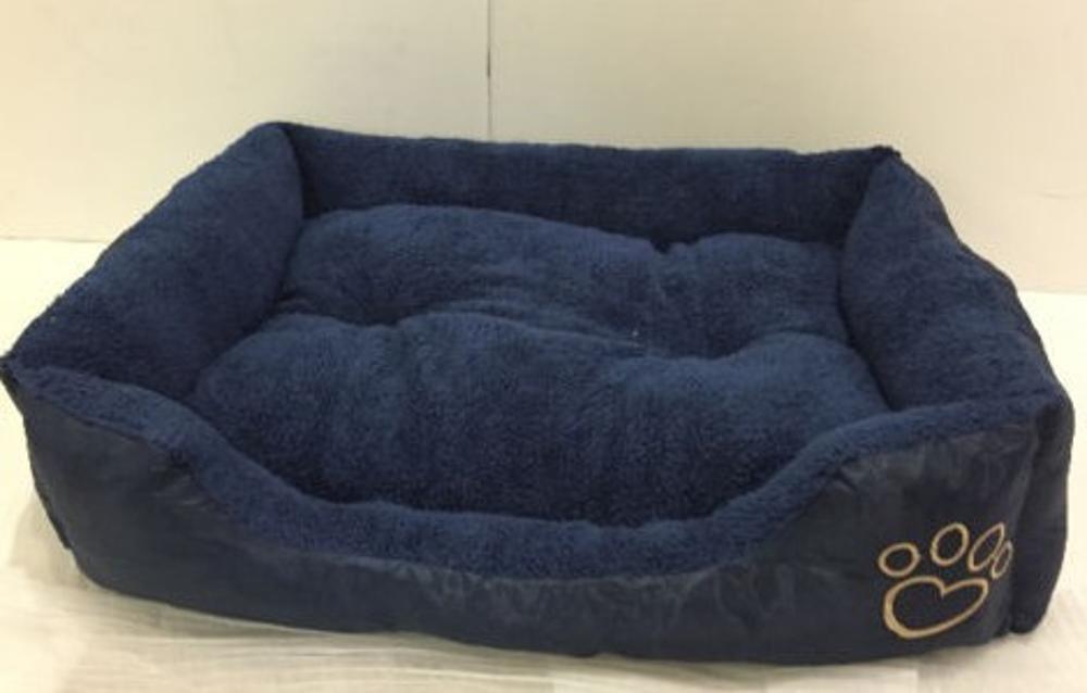 A 61x48x18cmWUTOLUO Pet Bolster Dog Bed Comfort Lamb Fleece Oxford Blabrado Kimmau Pet nest (color   B, Size   90x70x20cm)