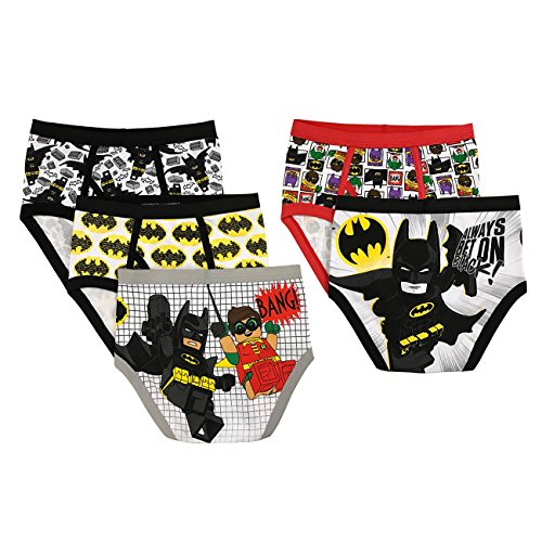 LEGO Little Boys' Batman 5-Pack Brief, Asst, 4 by LEGO