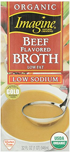 Imagine Organic Low Sodium Beef Flavored Broth, 32 Ounce