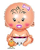 Giant Cute Baby Girl Supershape Helium Balloon Suitable for Baby Shower Christening Newborn Birth
