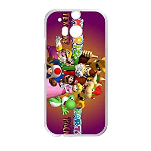 HTC One M8 Cell Phone Case White Mario Party 10 OJ628071