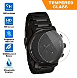 Exuun Universal Round FLAT Watch Tempered Glass Screen Protector, 9H Hardness 0.3mm Ultra Thin Tempered Glass for MVMT Chrono All Black and other Watch with glass diameter 40mm offers