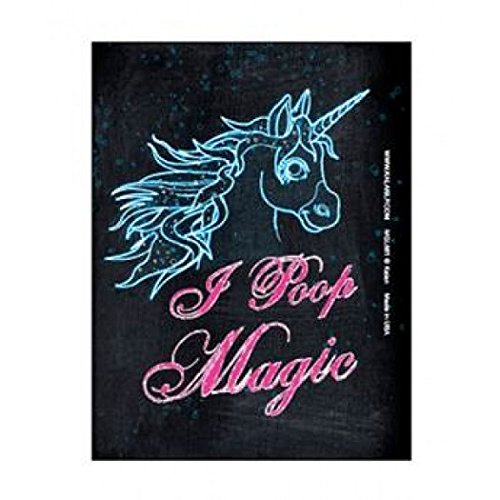 I Poop Magic Unicorn Refrigerator or Locker Magnet