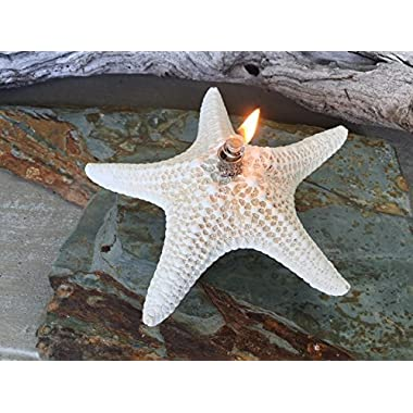 SeaThingz Starfish Candles - Unique Natural Oil Lamps for Indoor & Outdoor Decorative Lighting and Coastal Home Decor