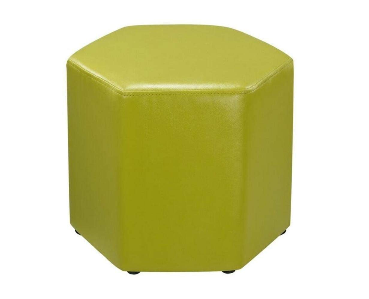 F ZAQXSW-yizi Modern Sofa Stool Change shoes Stool Short Stool Creative Hexagonal Rest Footstool (color   B)