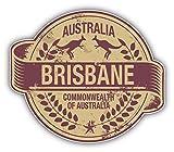 """Brisbane City Australia Grunge Travel Stamp Car Bumper Sticker Decal 5"""" x 4"""""""