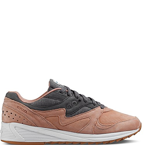 Saucony Salmon/Charcoal Grid 8000 Sneaker rosa