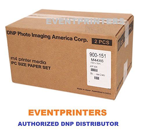 DNP M4 4X6 Printer Media (800 Prints). for use with DNP M4, M3, Altech ADS Megapixel III Citizen Systems CV01-H01 Printers. Comes with Samples of Our Photo folders! (Eventprinters Brand). by DNP and Eventprinters