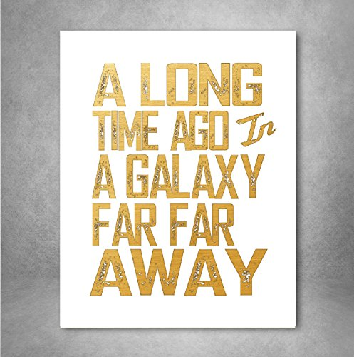 Gold Foil Art Print Typography product image