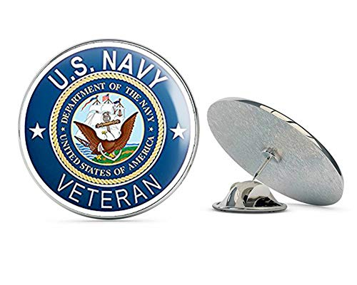 NYC Jewelers Round U.S. Navy Veteran (Naval ic Vet) Metal 0.75