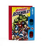 Hallmark Avengers Birthday Card with 3D Stickers and Glasses (Avengers Assemble!)