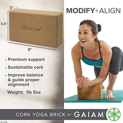 Gaiam Cork Yoga Brick
