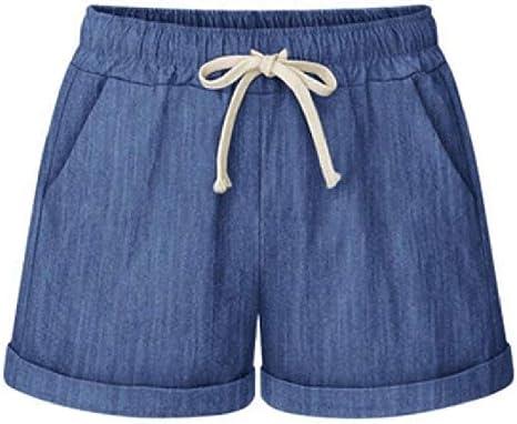 AngelSpace Womens Girls Waist Tie Solid Colored Wide Legs Haren pants Hot Pants