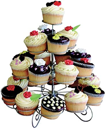 KitchenWorthy 4-tier Designer Cupcake and Muffin Stand Home Kitchen Furniture Decor  sc 1 st  Amazon.com : cupcake dinnerware - pezcame.com