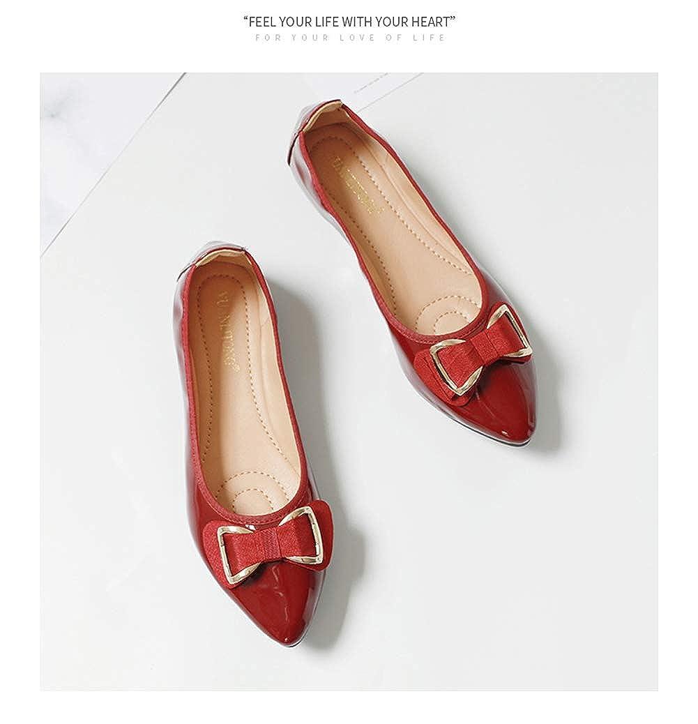 HLG Scarpe basse da da da donna slip on scarpe mocassini da balletto in vernice scarpe casual da donna | Vinci l'elogio dei clienti  ffa03a
