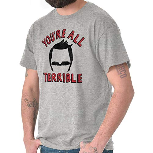Brisco Brands Youre All Terrible Funny Burgers Cartoon T Shirt Tee Sport ()