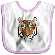 Tiger Head Funny Baby Bibs Burp Infant Cloths Drool Toddler Teething Soft Absorbent
