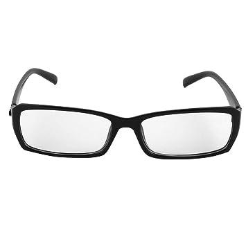d963695ae5d Plastic Full-rim Clear Len Plain Glasses Blk for Unisex  Amazon.co.uk   Beauty