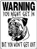 BULLMASTIFF ALUMINUM GUARD DOG SIGN W9 9