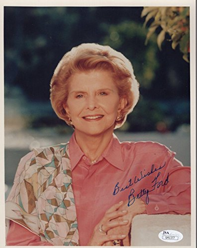 BETTY FORD HAND SIGNED 8x10 COLOR PHOTO GREAT FIRST LADY - JSA Certified